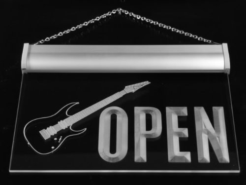 Roll Guitar Neon Sign - 6