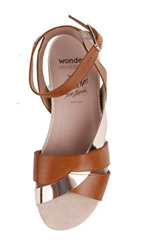 Wonders Sandalen B-6605 cognac silber