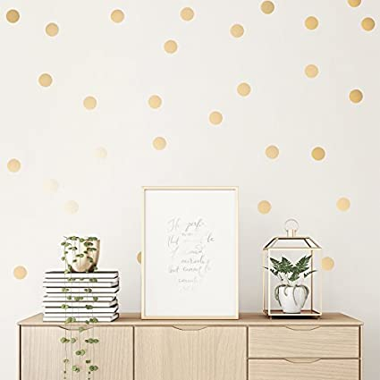 Easy Peel + Stick Gold Wall Decal Dots   2 Inch (100 Decals)