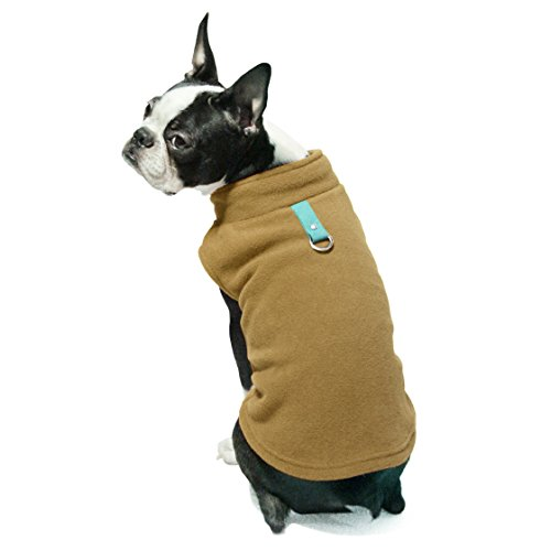 Gooby – Fleece Vest, Small Dog Pullover Fleece Jacket with Leash Ring, Clay, X-Small Review