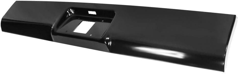 Steel Black Bumper Roll Pan IKON MOTORSPORTS Rear Roll Pan Compatible With 1999-2007 Chevy Silverado GMC Sierra