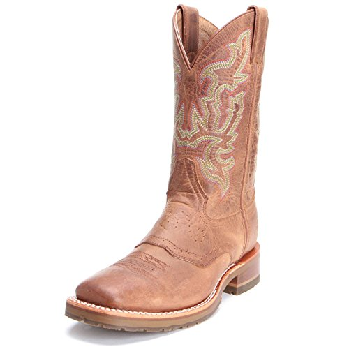 Double H Mens Dh3588 Alamo In Rovere 11 Larghi Punta Quadrata Western Boots Tan