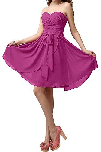 Elegant Knielang Kurz Cocktailkleider mia Traube Brautjungfernkleider Pink Festlichkleider Neu Partykleider La Braut Chiffon 8ZgxZCw