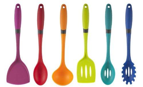 Core Kitchen Comfort Grip Brights 6 Piece Bogota Utensil Set ...
