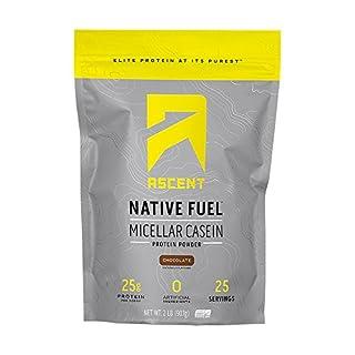 Ascent Native Fuel Micellar Casein Protein Powder - 2 Lbs - Chocolate