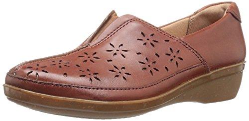 Clarks Women's Everlay Dairyn Slip-on Loafer, Dark Tan, 7 M (Tan Casual Loafers)