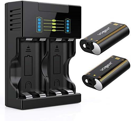 Vogek - Batería para mando de Xbox One, 2 baterías recargables de ...