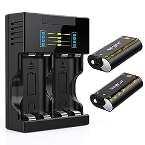 Vogek - Juego de 2 baterías recargables para Xbox One S y ...