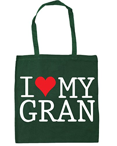 HippoWarehouse I Love My Gran Tote Shopping Gym Beach Bag 42cm x38cm, 10 litres