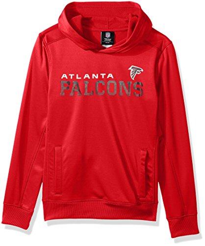 NFL Youth Boys Next Level Performance Fleece Hood-Red-L(14-16), Atlanta ()
