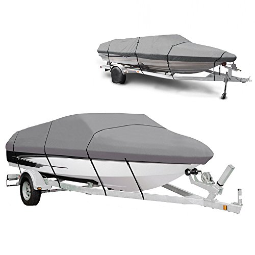 Waterproof Heavy Duty 210D Boat Cover for 17-19ft V-Hull Runabouts Ship Speedboat with Carry Bag(US - Me Outlet Vs Near