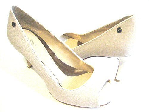 Calvin Klein Kyle Natural / White Heel Women