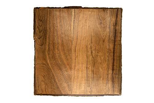 (Creative Co-op Square Brown Acacia Wood Cheese/Cutting Board,)