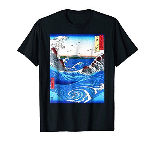 (Vintage Retro Whirlpools Shirt - Japan Woodblock Art Tee)