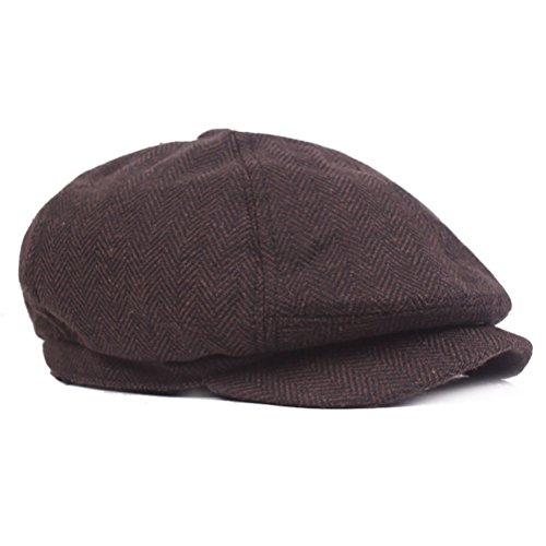 Mens Vintage Style Cloth Cap Hat Twill Cabbie/Hunting Hat newsboy Beret Cap