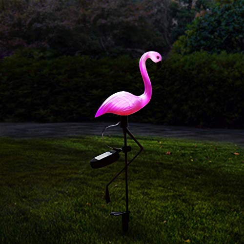 Garyesh Solar Lights Flamingos Yard Ornaments Solar Garden Light Lawn Lamp Outdoor Decorations Safe ()