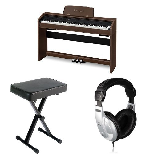 casio-px760-bk-privia-digital-home-piano-brown-with-bench-and-headphones
