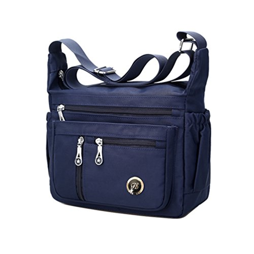 Fabuxry Purses and Shoulder Handbags for Women Crossbody Bag Messenger Bags (Navy) (Rosetti Blue Purse)