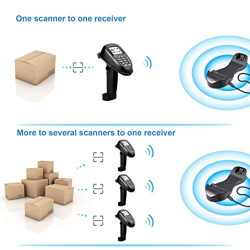 TroheStar Barcode Scanner 1D/2D/QR/PDF417 Wireless and Collector Portable Data Terminal Inventory Device Bar Code Reader PDT with TFT Color LCD Screen & USB Cradle Receiver Charging Base by Trohestar (Image #5)