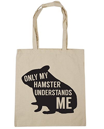 HippoWarehouse solo mi hámster entiende me Tote Compras Bolsa de playa 42cm x38cm, 10litros Natural