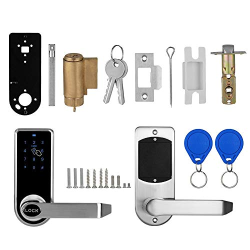 Touchscreen Electronic Smart Door Lock, Password Card Keyless Locks for Home Hotel Apartment