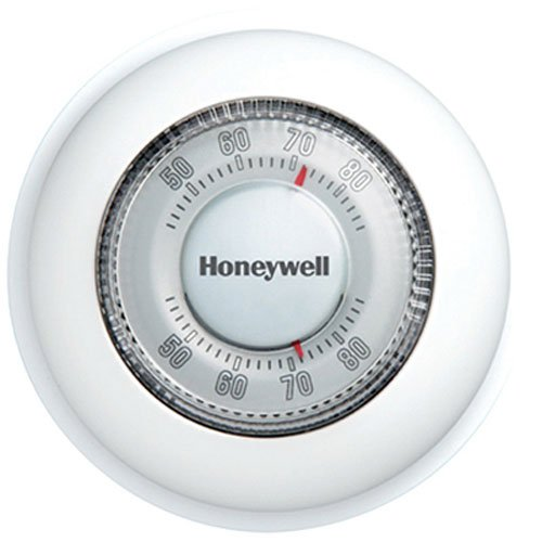 Analog Thermostat - Honeywell CT87K1004/E1 Not Available CT87K The RoundHeat Only Manual Thermostat, Large, White