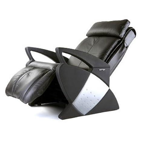 Sillón DE MASAJE | Silla de masaje de cuero negro Keyton ...