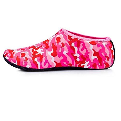 CUSHY New Anti-Slip Diving Socks Snorkel Suit Scuba Boot Water Swim Beach Swim Shoes Sneakers Men Women Snorkeling Shoe 40 Red