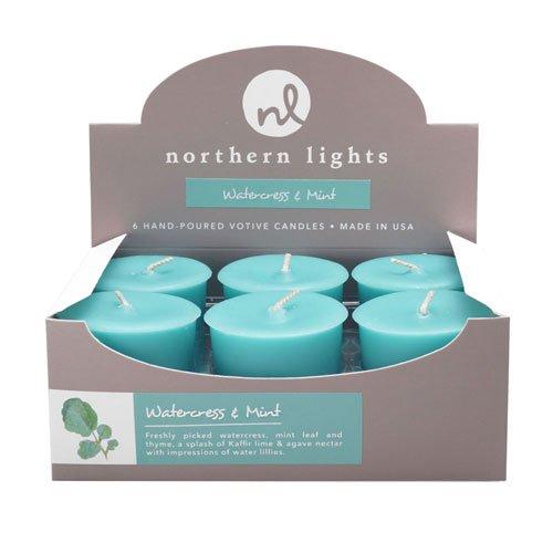 - Fragrance Palette 6Pc Votive Box, Watercress & Mint