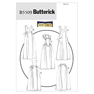 Old Fashioned Aprons & Patterns B5509 Aprons All Sizes Patterns $8.99 AT vintagedancer.com