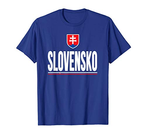 Slovakia T-shirt Slovak Flag Soccer Football Fan -