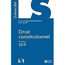 Droit constitutionnel 2019 (Université) (French Edition)