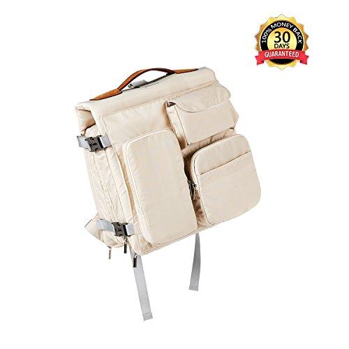 bahokids Unisex bolsa mochila de enfermería gran capacidad aislante 5en 1botella de almacenamiento bebé cambiador portátil para Viajar y fútbol niños amarillo caqui caqui