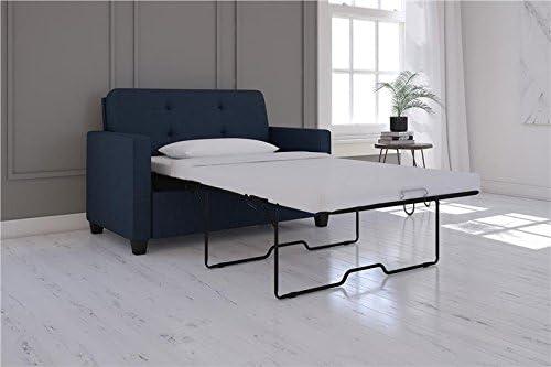 Queen Signature Sleep Devon Sleeper Sofa with Mattress Blue Linen