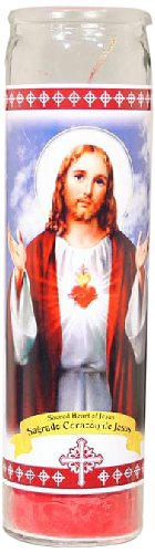 Star Candle 8-Inch Candle, Sacred Heart of Jesus