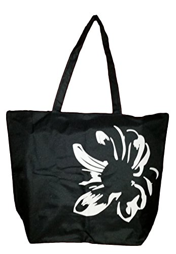 Large Flower Silhouette Zipper Beach