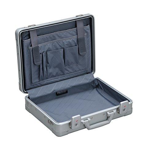 Aleon 15'' Business Attache Aluminum Hardside Business Briefcase (Platinum) Sliver by ALEON (Image #3)