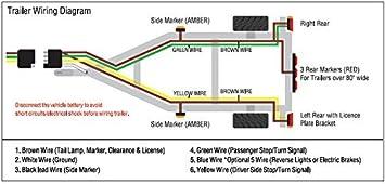 amazon com shoreline marine 4 way trailer wire harness (25 feet 3 Way Switches Diagram