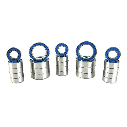 Traxxas 1/16 E-Revo VXL ABEC 3 Precision Ball Bearing Kit V2 (23) Blue Rubber ()