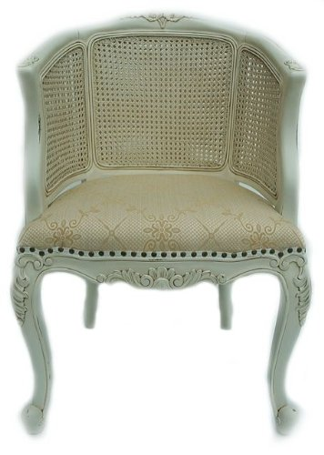 Groovy Solid Mahogany Antique White French Louis Rattan Chair Ibusinesslaw Wood Chair Design Ideas Ibusinesslaworg