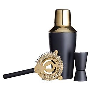 Kitchen Craft Kit per Fare Cocktail, Acciaio Inossidabile, Oro Nero, 10 x 10 x 19 cm 8 spesavip