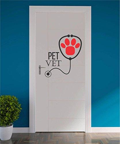 Adesivo Pet Shop Veterinaria Clinica Animal Cão Gato Loja