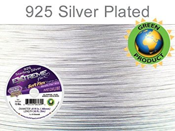 Soft Flex Extreme Sterling Silver Beading Wire .019