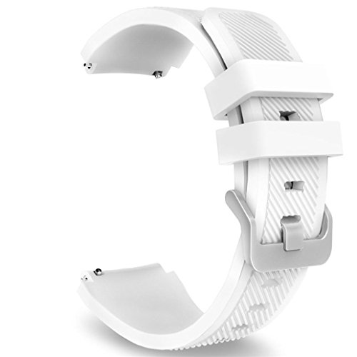 Ounice Bands for Huami Amazfit Stratos 2/2S, Sport Soft Silicon Watch Strap Wirstband Accessory For Huami Amazfit Bip Youth Watch (White)