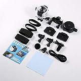 HuldaqueenMX 360 Degree Wifi 2448P 30Fps 16M Cámara de película para gafas virtuales Vr Acción Deportes Actividades al aire libre Cámara Coche Dvr