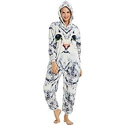 XVOVX Disfraz de Unicornio para Adultos y niños, Disfraz de Pijama, Gato, XL fit for Height 175-185CM (68.8-72.8)