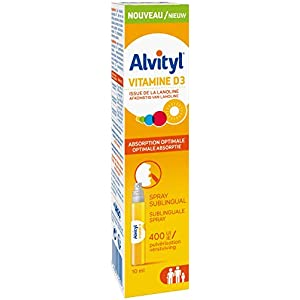 Alvityl Vitamine D3, goût banane – Spray sublingual pour absorption optimale – Dès 3 ans – 10 ml