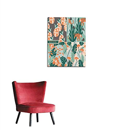 """longbuyer Wall Paper Natural Seamless Pattern Tropical Background Mural 32""""x48"""""""