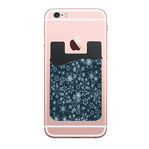 Cellcardphone Abstract Christmas Snowfall Winter Freezing Celebration Card Holder for Back of Phone Wallet Functioning as Credit Card Holder, Phone Wallet and iPhone