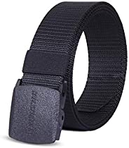 Winchester Nylon Canvas Breathable Military Tactical Men Waist Belt With Plastic Buckle, Yankee, One Size Fits